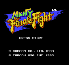 Mighty Final Fight title screenshot