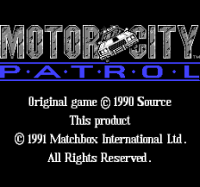 Motor City Patrol title screenshot