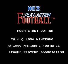 NES Play Action Football title screenshot