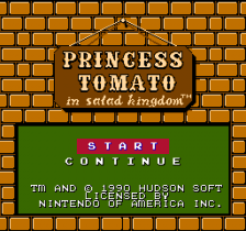 Princess Tomato in Salad Kingdom title screenshot