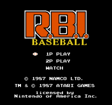 R.B.I. Baseball title screenshot
