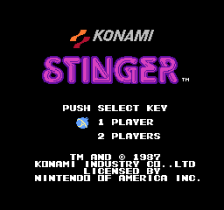 Stinger title screenshot