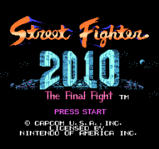 Street Fighter 2010 - The Final Fight title screenshot
