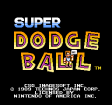Super Dodge Ball title screenshot