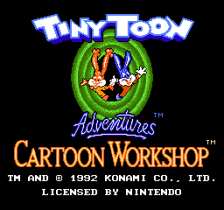Tiny Toon Adventures Cartoon Workshop title screenshot