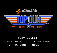 Top Gun - The Second Mission title screenshot