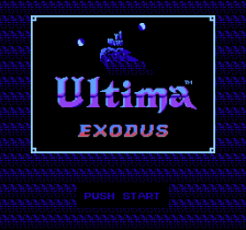 Ultima - Exodus title screenshot