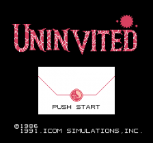 Uninvited title screenshot