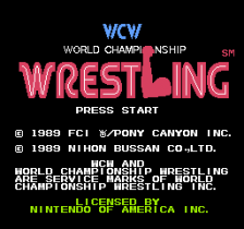 WCW World Championship Wrestling title screenshot