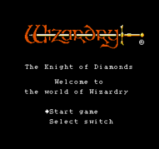Wizardry - Knight of Diamonds - The Second Scenario title screenshot