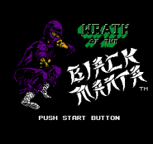 Wrath of the Black Manta title screenshot