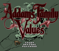 Addams Family Values title screenshot