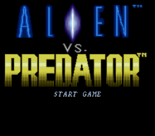 Alien vs. Predator title screenshot