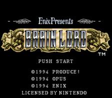 Brain Lord title screenshot