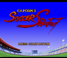 Capcom's Soccer Shootout title screenshot