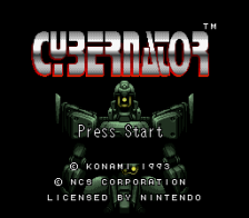 Cybernator title screenshot