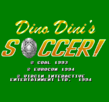 Dino Dini's Soccer ! title screenshot