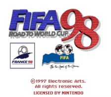 FIFA '98 - Road to World Cup title screenshot