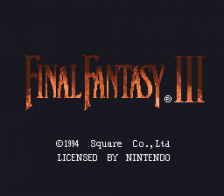 Final Fantasy III title screenshot