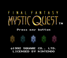 Final Fantasy - Mystic Quest title screenshot