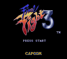Final Fight 3 title screenshot