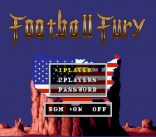Football Fury title screenshot