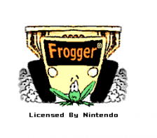 Frogger title screenshot