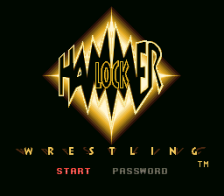 Hammer Lock Wrestling title screenshot
