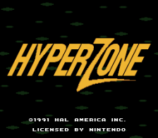 HyperZone title screenshot
