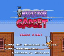 Inspector Gadget title screenshot