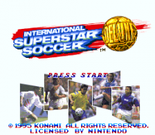 International Superstar Soccer Deluxe title screenshot