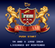 Irem Skins Game, The title screenshot