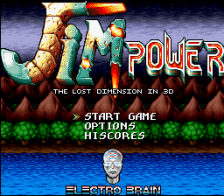 Jim Power - The Lost Dimension in 3D title screenshot