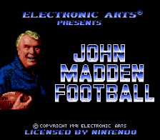 John Madden Football title screenshot
