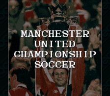 Manchester United Championship Soccer title screenshot