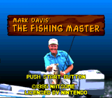 Mark Davis' The Fishing Master title screenshot