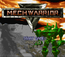 MechWarrior title screenshot