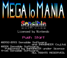 Mega lo Mania title screenshot