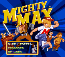 Mighty Max title screenshot