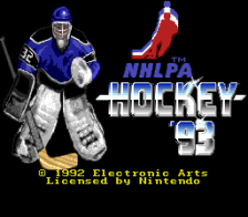 NHLPA Hockey '93 title screenshot