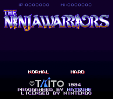 Ninja Warriors, The title screenshot