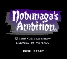 Nobunaga's Ambition title screenshot