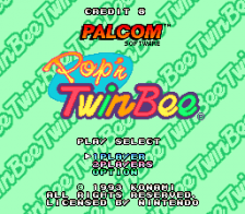 Pop'n TwinBee title screenshot