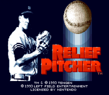 Relief Pitcher title screenshot