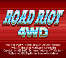 Road Riot 4WD title screenshot