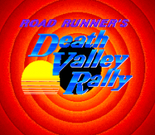 Road Runner's Death Valley Rally title screenshot