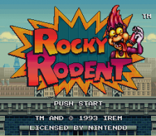 Rocky Rodent title screenshot