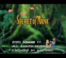 Secret of Mana title screenshot