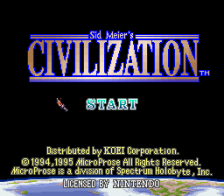Sid Meier's Civilization title screenshot