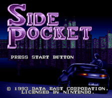 Side Pocket title screenshot